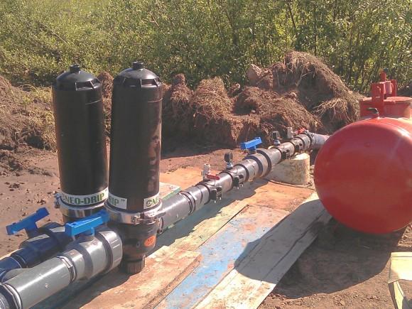 Фильтры и бочка для удобрений