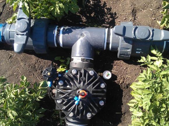 Клапан с регулятором давления