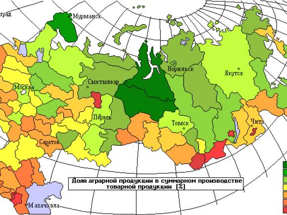 Аграрная карта России