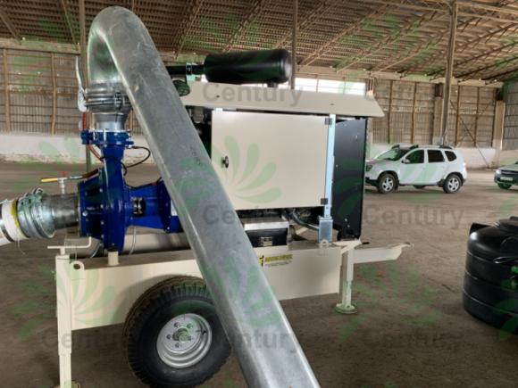 Забор воды для полива осуществляется при помощи дизельной станции